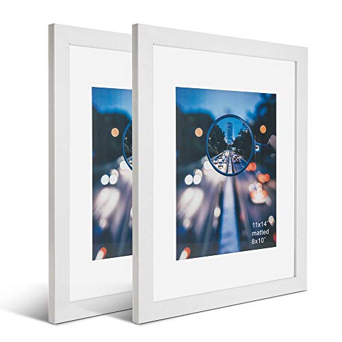 white picture frames with mat - 9
