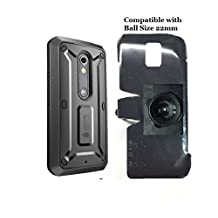 SlipGrip 22mm Ball Holder For Motorola Droid X Play Maxx 2 Using SupCase Unicorn Beetle Case