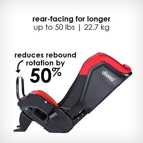 41VLn0YpwYL - Diono Radian 3QX 4-in-1 Rear & Forward Facing Convertible Car Seat | Safe+ Engineering 3 Stage Infant Protection, 10 Years 1 Car Seat, Ultimate Protection | Slim Design - Fits 3 Across, Red Cherry