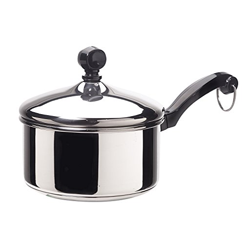 Farberware Classic Series Stainless Steel 1-Quart Covered Saucepan Classic Stainless Single Handle