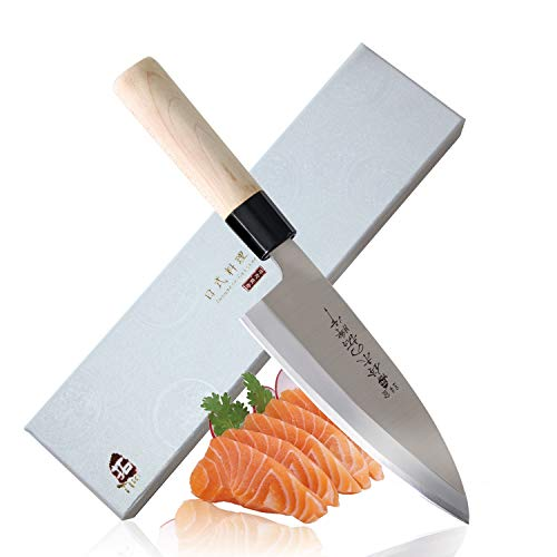 (TUO Cutlery High Carbon Stainless Steel Deba Fish Filleting Knife 6.5