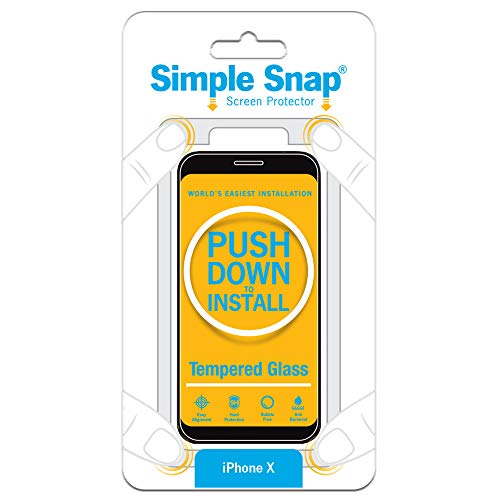 Simple Snap Tempered Glass Screen Protector for Apple iPhone X High Definition (HD) Tempered Glass - Maximum Clarity and Touchscreen Accuracy iPhone 10