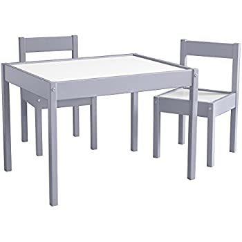 baby relax hunter 3 piece kiddy table and chair set gray