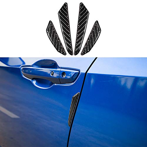 Thenice Carbon Fiber Car Door Side Edge Bumper Sticker Anti-Scratch Protector Strips Trims for Honda Civic Accord CRV ()