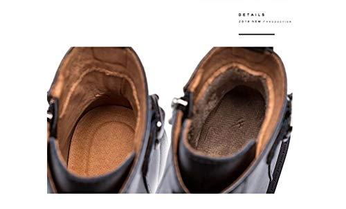 BeatinToes Stiefel Damen Herbst Winter Winter Winter Thermisch Anti Slip Wasserdicht Leder Martin Stiefel Reine Farbe Casual Schuhe Low Rohr Dicker Absatz Kurz Stiefel f7ac1b