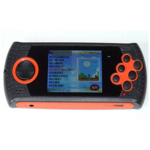 Simply Silver - Sega Portable Player with 100 Built In Sega Genesis Games 2.8
