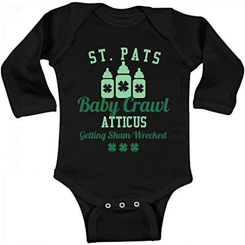 FUNNYSHIRTS.ORG ST. Pats Baby Crawl Atticus: Infant Long Sleeve - St Atticus