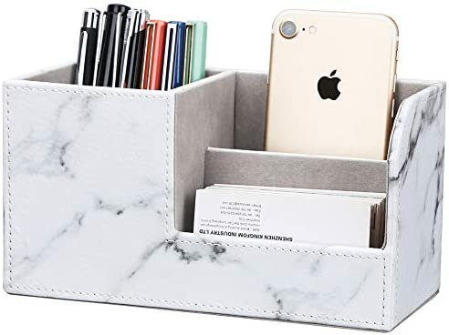 Wooden Pencil Box Pen Holder Home Office Desk Organizer L