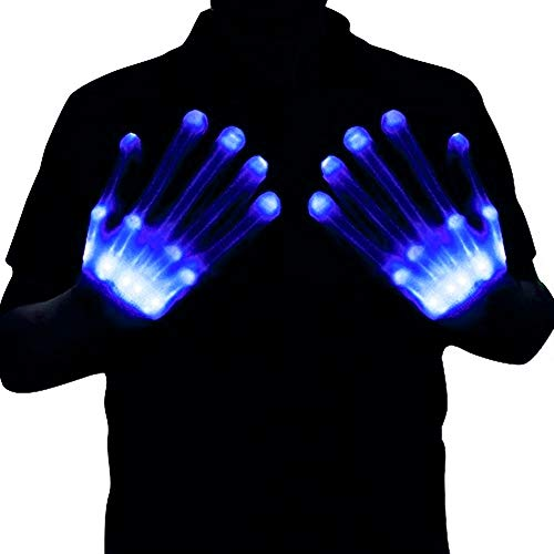 HITOP Led Gloves, Light Up Gloves Toy Skeleton Lighted Gloves, Christmas Party Gifts for Men Stocking Stuffers for Teens]()