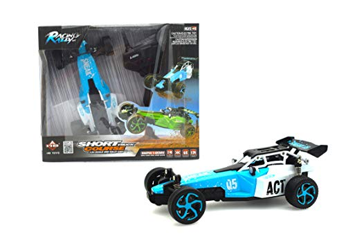 PAPA TOYS Electric Off Road RC Cars High Speed 4WD 2.4Ghz Radio Remote Control Racing Drift Toy Car Kit 1/24 Scale USB Charging Radio Controlled Vehicle RC Formula Car (Blue) ()
