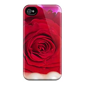 Perfect Red Rose 5 Case Cover Skin For Iphone 4/4s Phone Case