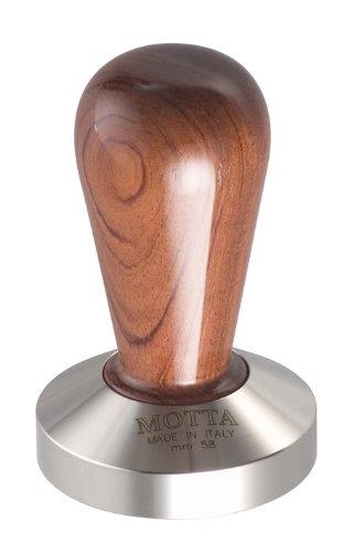Motta 110 Professional Flat Base Coffee Tamper, 58mm, Bubinga Handle by Metallurgica Motta