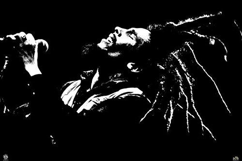 Bob Marley - B&W - Poster