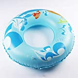 Cartoon Printing Adult Swim Circle, Underarm Swim Ring, PVC Material Inflatable Swim Tube. (Color : Blue)