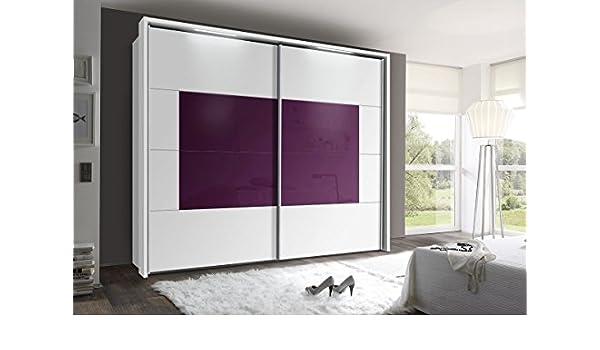 Armario de puertas correderas 270 cm aprox., incluye soporte con 2 x tiras de LED armario: Amazon.es: Hogar