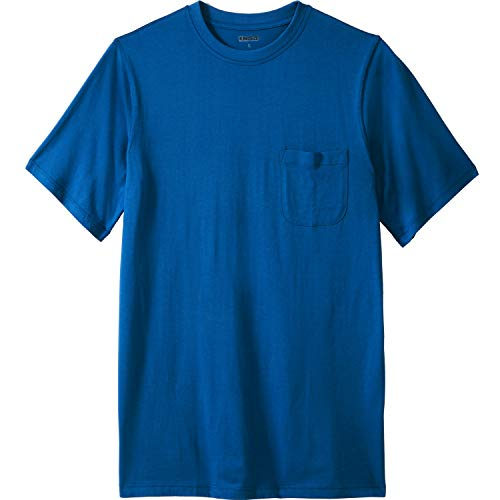 KingSize Men's Big & Tall Pima Short-Sleeve Pocket Crewneck T-Shirt