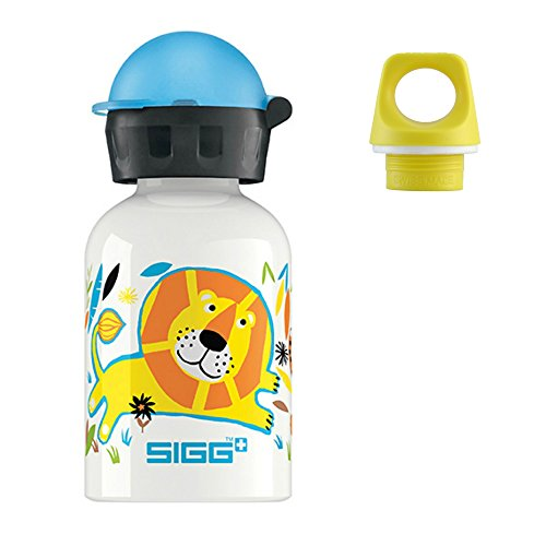 (Sigg .3l Bottle with 2 Caps- Elephant Family)