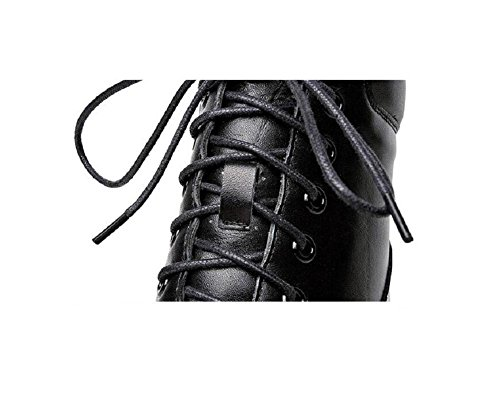 Ankle alto Grosso a tacco piedi 36 piattaforma scarpa confortevole 38 Bootie wOqdrIq