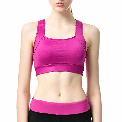 Reggiseno Lraye Yoga In Senza Sport Rosso Di Fitness Biancheria Acciaio Sottile Prova Porpora Sezione Shock X7XIr