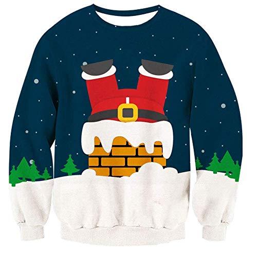 AGoGo Unisex Ugly Christmas Sweater 3D Funny Print Sweatshirt -