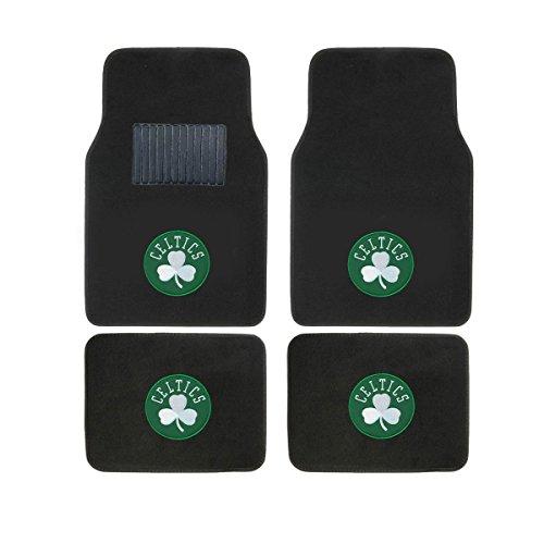 SLS Newly Released Licensed Boston Celtics Embroidered Logo Carpet Floor Mats. Wow Logo on All 4 ()
