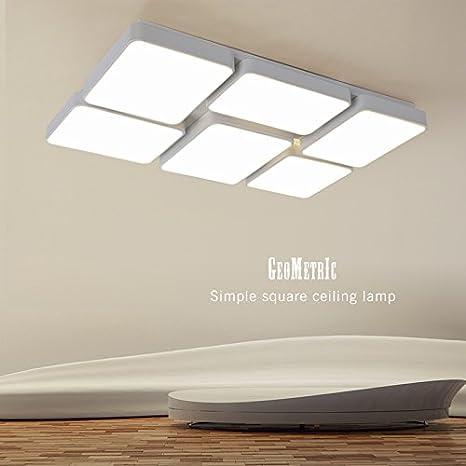 chjk briht plancha tipo - Lámpara LED de techo rectángulo ...