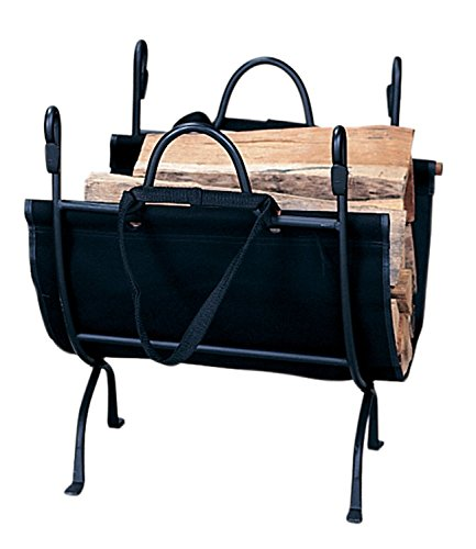 Deluxe Cast Iron Fireplace - Black Cast Iron Deluxe Log Holder