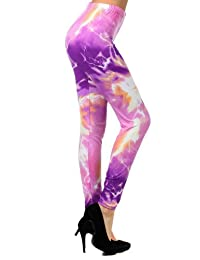 Electrifying Energy in Violet Printed Legging