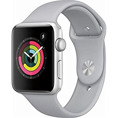 Apple Watch Series 3 38mm Smartwatch (GPS Only, Silver Aluminum Case, White Sport Band) (Refurbished)