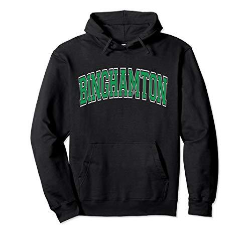 Binghamton Hoodie NY - Varsity Style Green Text ()