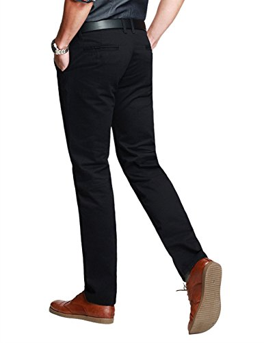 Match Mens Slim-Tapered Flat-Front Casual Pants(8116 Black,32) by Match (Image #1)
