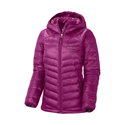 Columbia Women's Gold 650 TurboDown? Hooded Down Jacket Deep Blush Outerwear MD