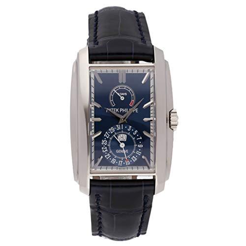 Patek Philippe Gold Dial - Patek Philippe Gondolo Matte Blue Dial 18K White Gold Mens Watch 5200G-001