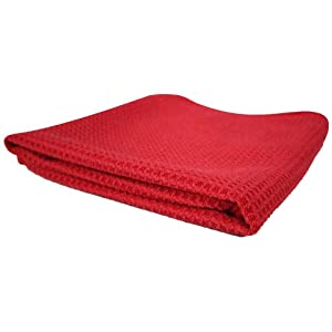 Chemical Guys MIC_7071 Glass and Window Waffle Weave Towel, Red (24 in. x 16 in.)