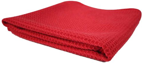 Chemical Guys MIC7071 Glass and Window Waffle Weave Towel, Red - 24 in. x 16 in. MIC_707_1