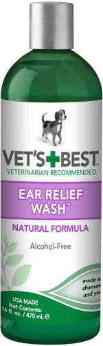 Vet's Best Ear Relief Wash for Dogs, 16 Ounce ()