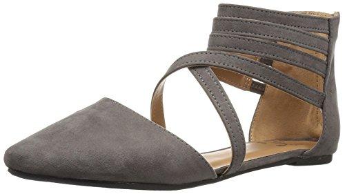 Brinley Co Womens Mirin Flat Sandal Grey