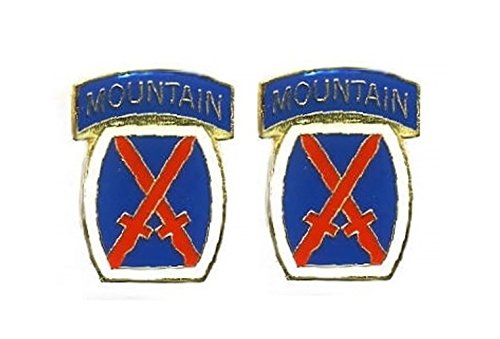 (US Army 10th Mountain 2-Pack Lapel Pin Hat Tie Tac Brass CHN)