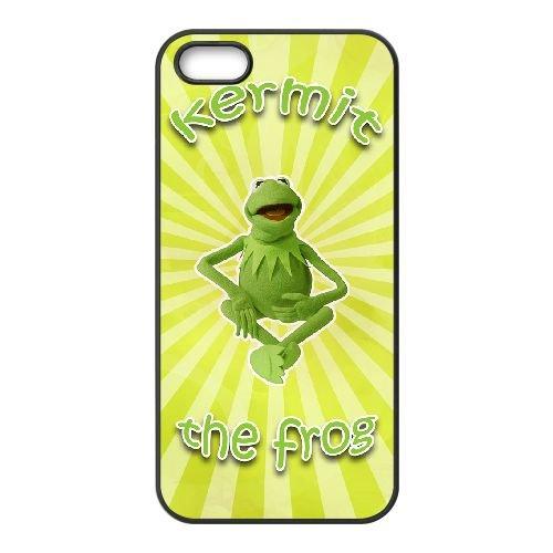 Muppets Kermit Piggy Fun 004 coque iPhone 4 4S Housse téléphone Noir de couverture de cas coque EOKXLKNBC23590