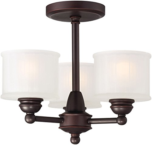 Minka Lavery Semi Flush Mount Ceiling Light 1730 Series 1738-167 3 Light 180 watt (13