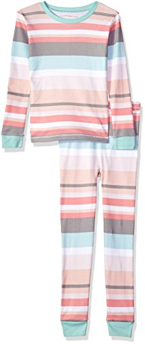 Burt's Bees Baby Little Kids Organic 2 Piece Pajama Set, Desert Stripe, (Cotton Kids Pajamas)