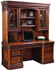Amazon.com: Aspen Home Napa Credenza Desk with Hutch: Home & Kitchen