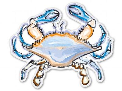 Blue Crab Art Design Vinyl Sticker - Car Window Bumper Laptop - SELECT SIZE - Ocean Blue Car