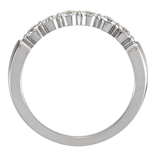 0.60 ct Ladies Round Cut Diamond Wedding Band Ring in 18 kt White Gold