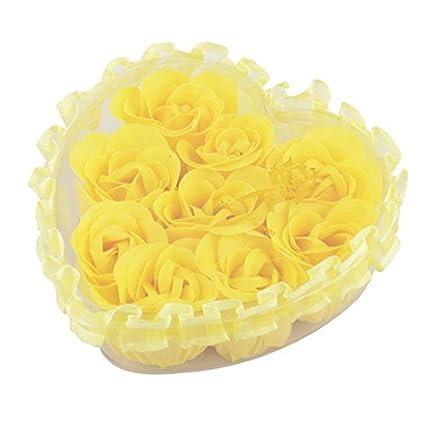 eDealMax Forma decoración del cordón del Regalo de boda del brote de Flor del pétalo del