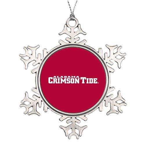 Dozili Custom Christmas Snowflake Ornaments The University of Alabama Crimson Tide Sports Snowflake ()