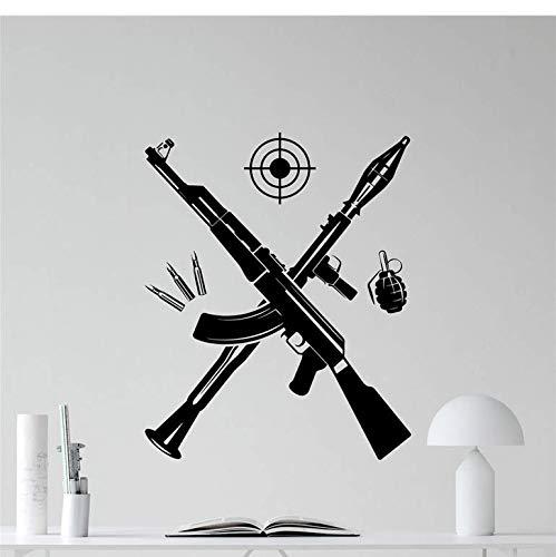 cptbtptp Bazooka Kalashnikov Rifle de Asalto Granada Pared Vinilo ...
