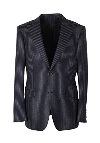 - Gucci CL Navy Flannel Striped Suit Size 48/38R U.S. in Wool