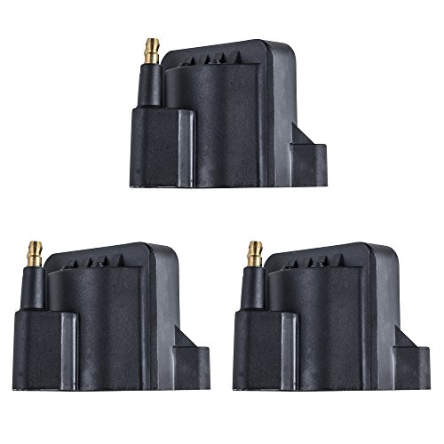 Ignition Coil Set of 3 w/ for Various Buick Chevrolet Pontiac Oldsmobile compatible with DR-39