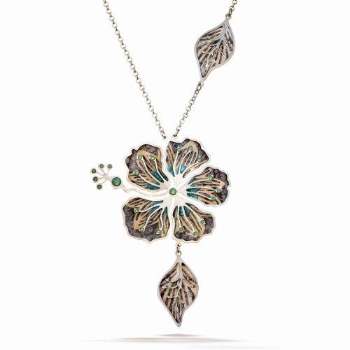 Artazia Cream and Silk Brown Tones Seagrass Fashion Necklace ()